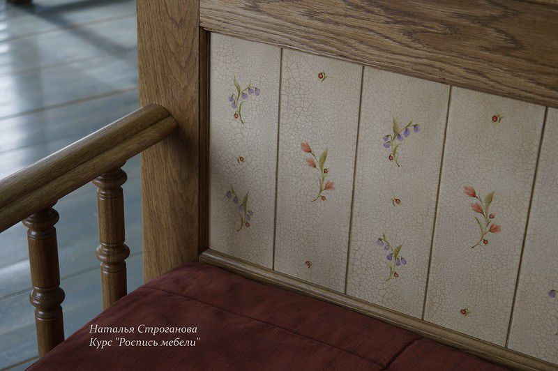 курс росписи мебели, наталья строганова