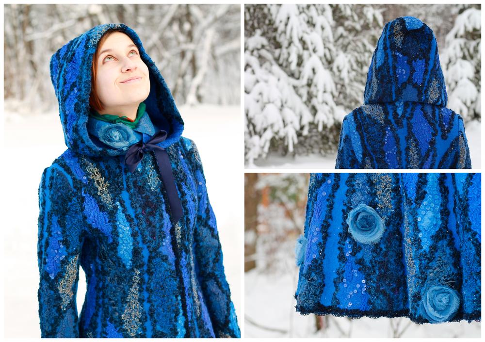 3d-пэчворк, шаманское пальто, эко-мех, арт-шапка