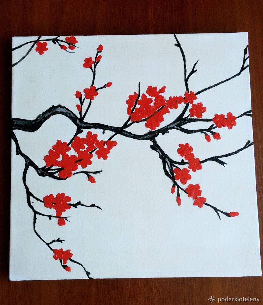 Нарисовать сакура своими руками фото 865