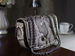 Женская сумочка из кожи бирманского питона (видео обзор). Ярмарка Мастеров - ручная работа, handmade.