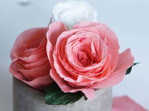 Мастерим бумажные розы для декора. Ярмарка Мастеров - ручная работа, handmade.