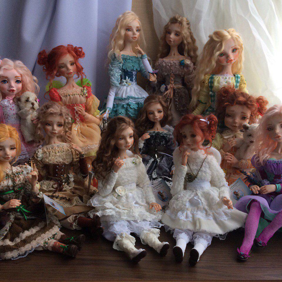 кукла ручной работы, интерьерная кукла