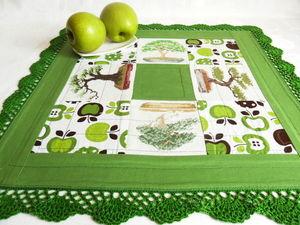 Щедрый аукцион. Большая зеленая салфетка очень ручной работы. Ярмарка Мастеров - ручная работа, handmade.