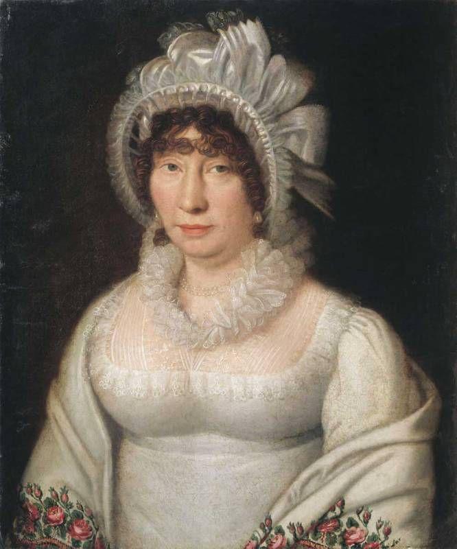 Смирновский - Портрет дамы в белой шали. 1810