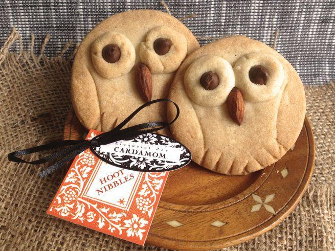 @Tawny Burgess!! Hoot Nibbles: Cardamom Shortbread Cookies. I  cardamom and owls!