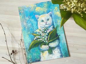 Солнечный котик   Ярмарка Мастеров - ручная работа, handmade