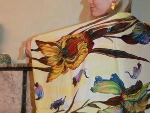 Авторские рисунки на платках, мы расписали шелк для подарков!. Ярмарка Мастеров - ручная работа, handmade.