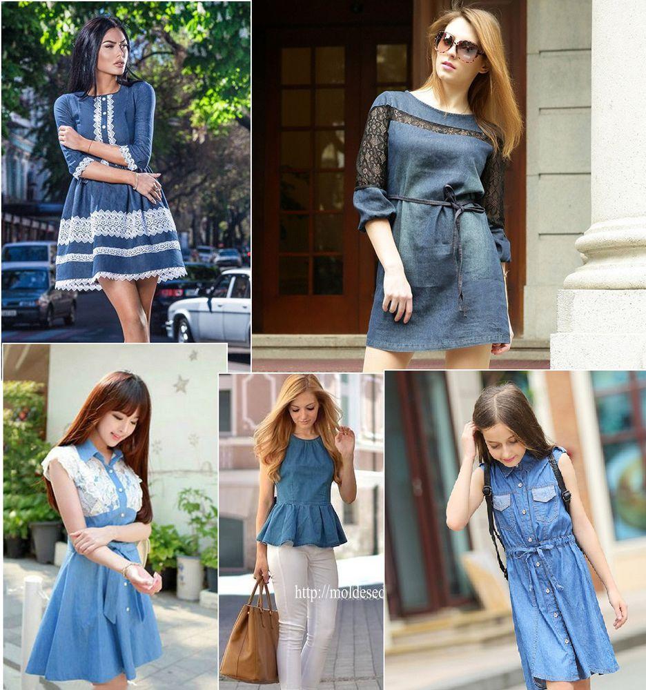 джинсовый стиль, платья