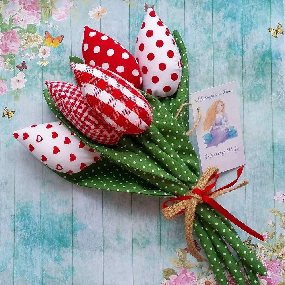 краснодар, тюльпаны, тильда тюльпаны, мастерская вики, букет тюльпанов, подарок подруге, подарок маме, текстильный тюльпан