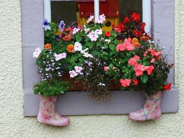 Вдохновлялочка. Кашпо для цветов и цветочных композиций. Нестандартный подход к использованию обуви. | Ярмарка Мастеров - ручная работа, handmade