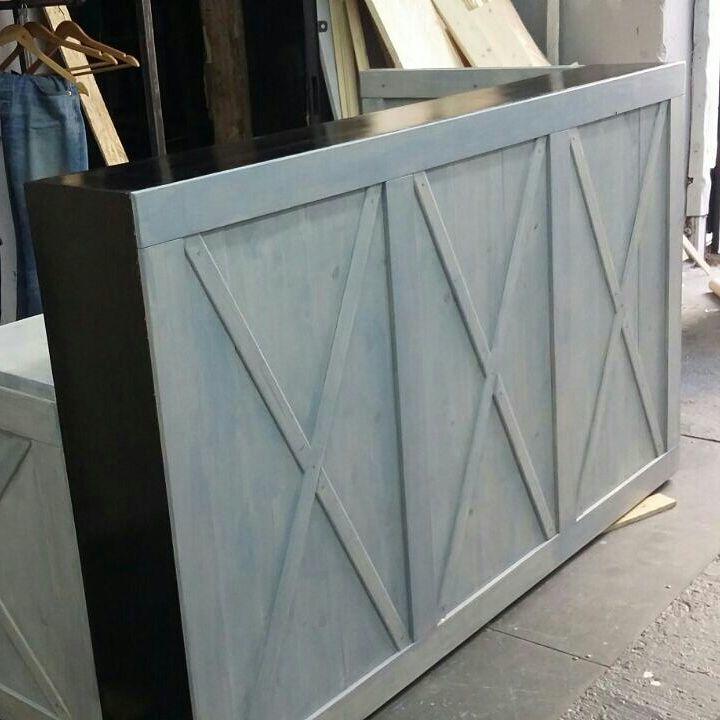 рецепшн лофт, металлическая мебель, в стиле лофт