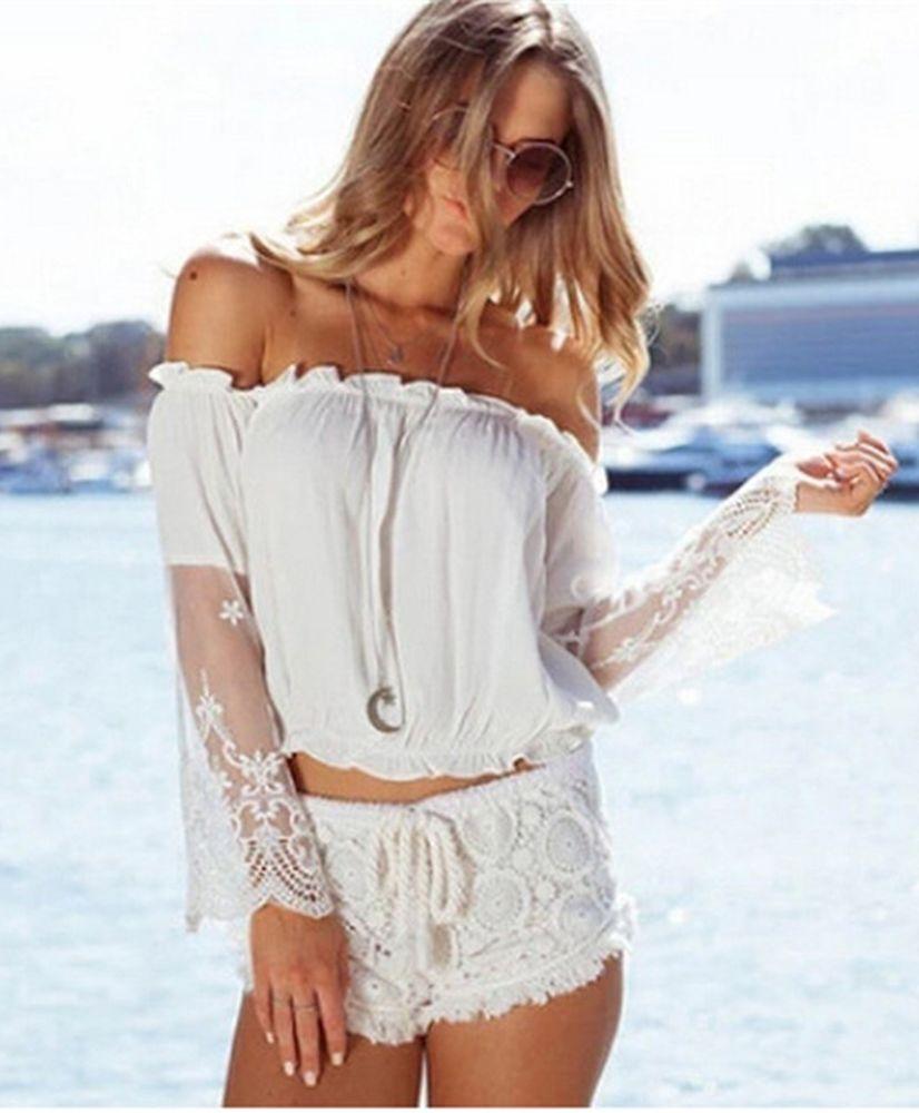 Белое бохо, или Шикарная одежда для королевы летнего пляжа, фото № 126
