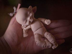 Шарнирная кукла: Первый весенний росток. Ярмарка Мастеров - ручная работа, handmade.
