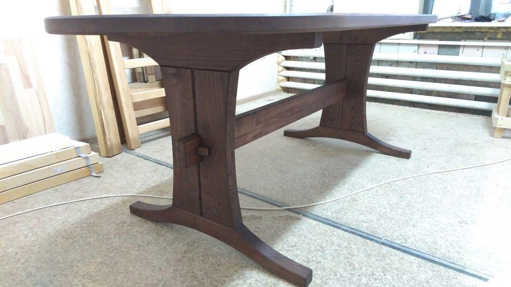 стол на заказ, обеденный стол, ясень, овальный стол, для улицы, садовый стол