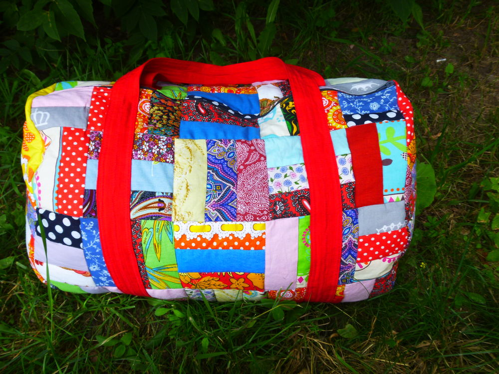 лоскутная сумка, яркие краски