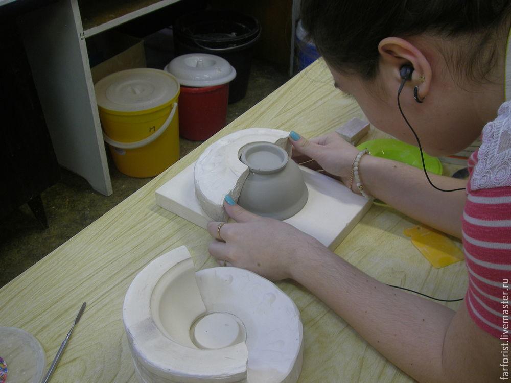 искусство фарфора, снятие формы