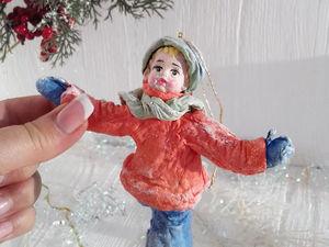 Ватная игрушка Фигурист. Ярмарка Мастеров - ручная работа, handmade.