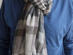 10% скидка на мужские шарфы из 100% кашемира. Ярмарка Мастеров - ручная работа, handmade.