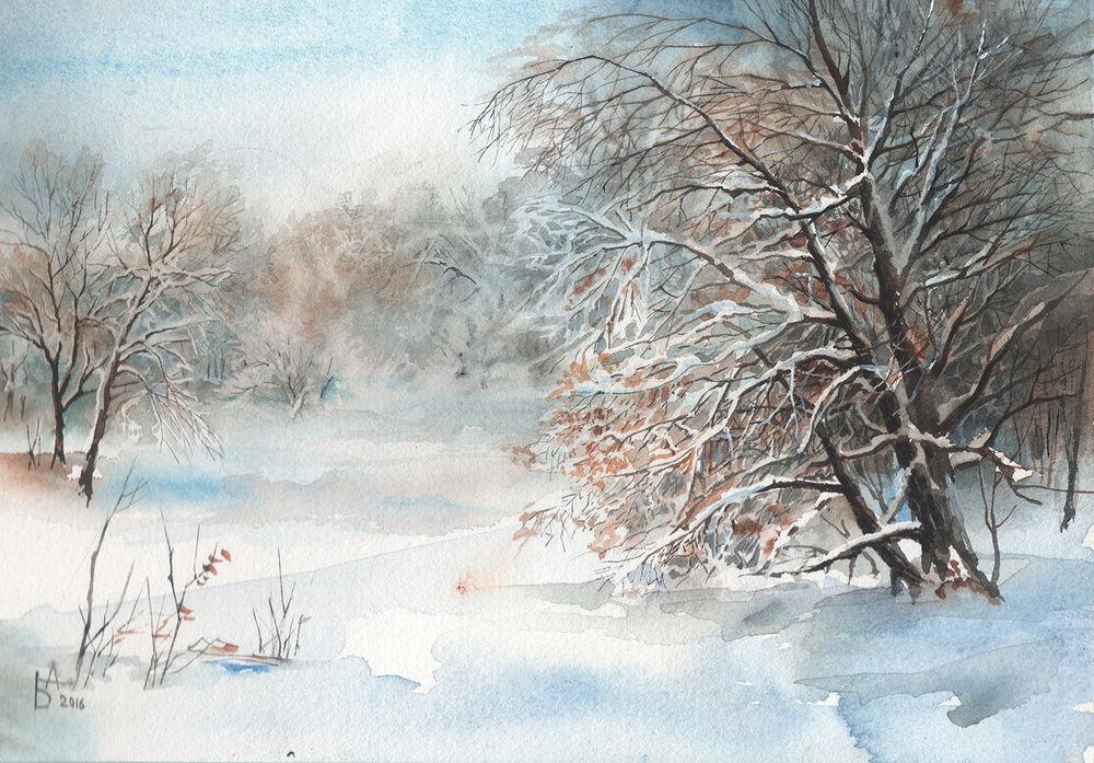 розыгрыш, зимний пейзаж, зима, новый год