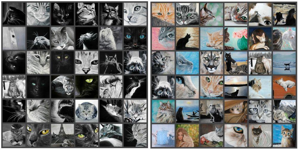 кот, картины маслом, коллекция картин