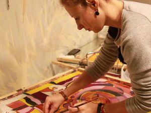 Мастер-класс по Батику СУББОТА  4 марта с  15-30. Смешанная техника холодный и горячий батик. | Ярмарка Мастеров - ручная работа, handmade