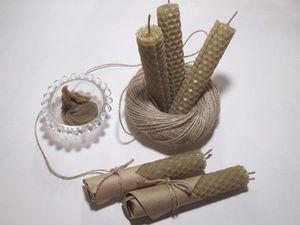 Делаем свечи из вощины. Ярмарка Мастеров - ручная работа, handmade.