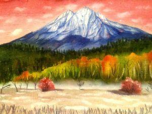 Пишем маслом горы за час. Ярмарка Мастеров - ручная работа, handmade.