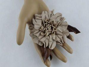 Акция на кожаные броши! Успеваем забрать свой цветочек по низкой цене. Ярмарка Мастеров - ручная работа, handmade.
