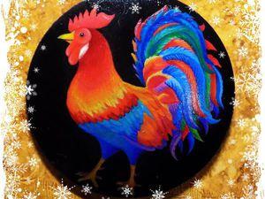 Изготавливаем брошь «Петушок» с росписью. Ярмарка Мастеров - ручная работа, handmade.