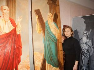 Процесс написания икон святого апостола Андрея и святого апостола Павла. Ярмарка Мастеров - ручная работа, handmade.