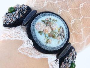 Миниатюрная вышивка шелком. Ярмарка Мастеров - ручная работа, handmade.