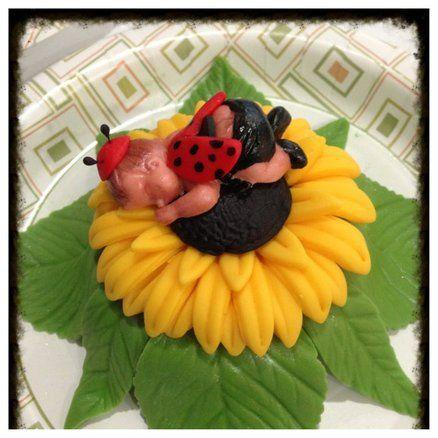sunflower baby....lady bug cupcakes