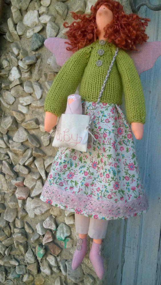 кукла ручной работы, текстильная кукла, уникальный дизайн