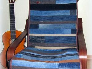 Новинка — джинсовая дорожка на кресло. Ярмарка Мастеров - ручная работа, handmade.