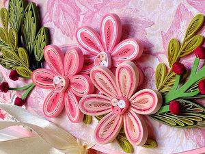 Видео мастер-класс: делаем цветы в технике квиллинг. Ярмарка Мастеров - ручная работа, handmade.