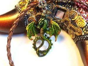 Гринус – это к деньгам;-) Новый кулон Дракончик.. Ярмарка Мастеров - ручная работа, handmade.
