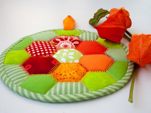 "How to Make a ""Colors of Autumn"" Hot Pad. Livemaster - handmade"