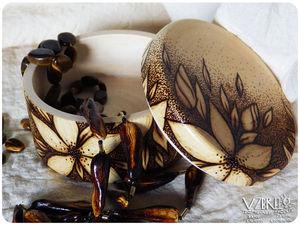 Мастер-класс по выжиганию: шкатулка с лилиями. Ярмарка Мастеров - ручная работа, handmade.