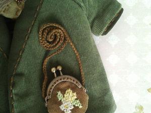 Шьем сумочку с фермуаром для тедди или куколки. Ярмарка Мастеров - ручная работа, handmade.
