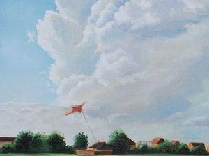 "Новая работа! Картина ""Лето. Облака"". Ярмарка Мастеров - ручная работа, handmade."