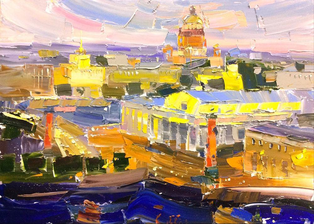 Konstantin Sukhopluev: Artist Painting Rain, фото № 25