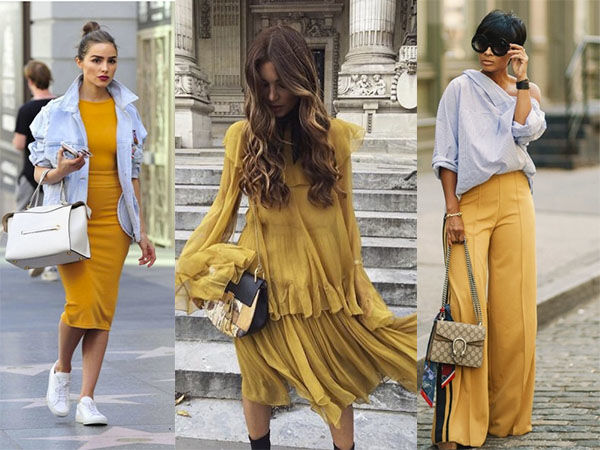 мода, желтый цвет
