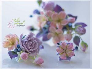 Свадьба... лето..цветы из глины. Ярмарка Мастеров - ручная работа, handmade.