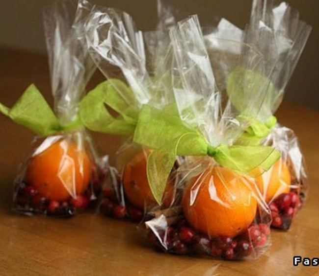 Подарок своими руками из мандарин
