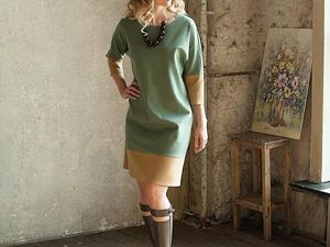 Трикотажное платье А-силуэта. Ярмарка Мастеров - ручная работа, handmade.
