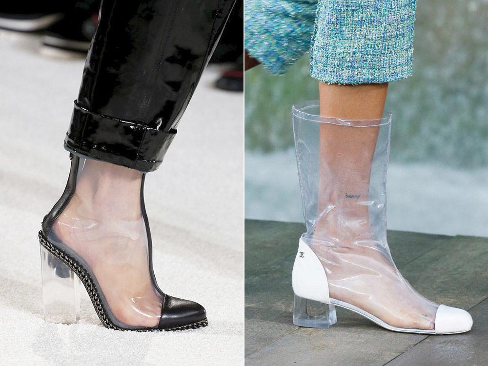 beaf7119ed37 Прозрачная обувь из силикона, впрочем, как и одежда и аксессуары – стали  самым главным трендом этого сезона.