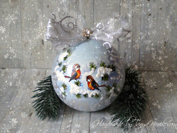 Новогодние шарики | Ярмарка Мастеров - ручная работа, handmade