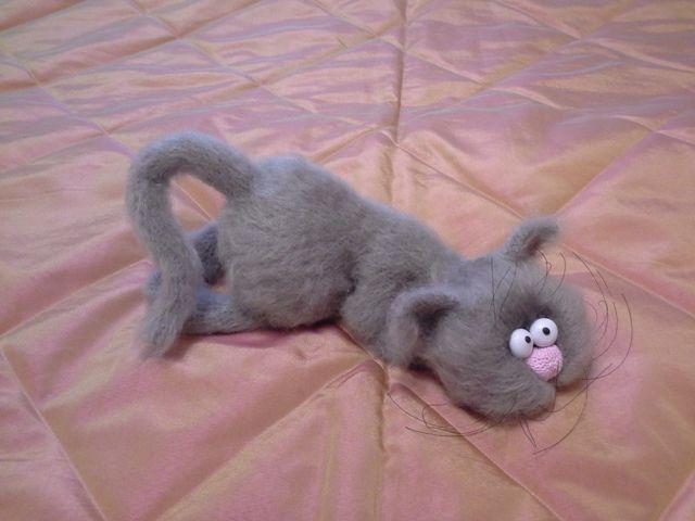 кот, вязаный кот, вязаная игрушка, коллекция