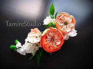 Делаем заколку с пионовидной розой из фоамирана. Ярмарка Мастеров - ручная работа, handmade.