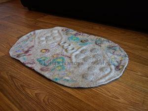 Массажный коврик, валяный из натуральной овечьей шерсти. Для чего нужен и как пользоваться. Ярмарка Мастеров - ручная работа, handmade.